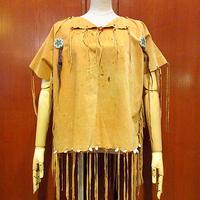 ビンテージ●インディアンハンドメイドフリンジトップス●210225s3-w-sssh Tシャツ半袖シャツプルオーバーボヘミアンヒッピー古着