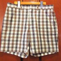 ビンテージ70's●チェックショーツW83cm●200605f3-m-sht-W33ショートパンツボトムス短パンハーフパンツ半ズボン
