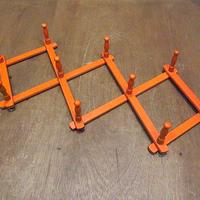 ビンテージ●ウッドマグラック橙●210305n8-signオレンジ木製雑貨インテリア小物マグカップコップウッドマグホルダー壁掛けディスプレイ