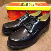 ビンテージ70's●DEADSTOCK Thorogoodモックトゥワークシューズ黒8 1/2 B●201105n6-m-dshs-27cm 1970sデッドストック革靴メンズ