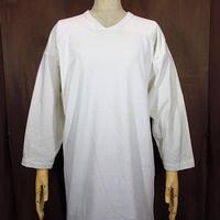 ビンテージ70's●Russell フットボールTシャツ生成り Size L●200530n3-m-ostsh ラッセル七分袖トップス古着