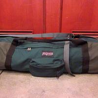JANSPORT ナイロンアウトドアボストンバッグ緑●200805f4-bag-bstn USA製大容量カバンジャンスポーツダッフルバッグ旅行収納