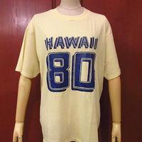 ビンテージ80's●HAWAII 80ナンバリングTシャツ黄sizeXL(46-48)●200716f5-m-tsh-ot古着ハワイメンズ半袖シャツHanesヘインズUSA製