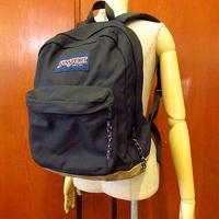 MADE IN U.S.A. JANSPORT ボトムレザーバックパック黒●201022s5-bag-bp USA製ジャンスポーツリュックデイパック