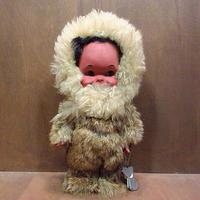 ビンテージ~70's●ラバーフェイスエスキモードール●210206n8-doll 雑貨人形ぬいぐるみおもちゃトイ