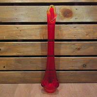 ビンテージ-70's●ミッドセンチュリーガラスフラワーベース●210129n1-otclct 1960s1970s雑貨花瓶インテリアUSAディスプレイアート