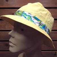 ビンテージ70's80's●ロールアップハット黄size M●200724n5-m-ht-otデッドストックバケットハット古着メンズ帽子