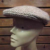 ビンテージ●HIReLanoツイードハンチング帽size 7 5/8●200925n1-m-cp-htgウールメンズ帽子USA古着キャップ