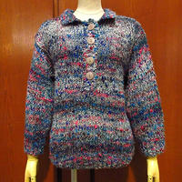 ビンテージ80's●HEIDIレディースネップ織りプルオーバーカラフルニットセーターsize M●210301s9-w-swr長袖編み込み古着トップス女性用
