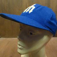ビンテージ80's●DEADSTOCKシアトル・マリナーズベースボールキャップ青7 3/8●210207n6-m-cp-bb 1980sデッドストック野球帽MLB