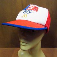 ビンテージ80's●マクドナルド×ロサンゼルスオリンピック スナップバックメッシュキャップ●200919n8-m-cp-bb 帽子ロス五輪コレクション