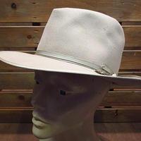 ビンテージ40's●STETSON Royal De Luxeフェドラハットベージュ7●200614n6-m-ht-flt 1940sステットソンフェルトハットソフト帽