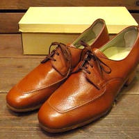 ビンテージ70's●DEAD STOCK FOOT-SO-PORTレディースレザーシューズ10 2A/B●210518n11-w-dshs-265cm 1970sデッドストック革靴茶