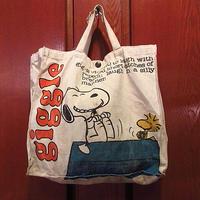 ビンテージ70's●ピーナッツキャンバストートバッグ●201126f2-bag-ttスヌーピーキャラクターカバンハンドバッグUSA