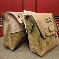 ビンテージ~40's●USミリタリーステンシル入りサドルバッグ●201029s4-bag-ot キャリアサイドバッグ米軍実物