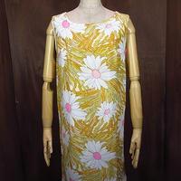 ビンテージ70's●DEADSTOCK花柄ノースリーブワンピース12●200804n1-w-nsdrs 1970sデッドストックレディース麦の穂