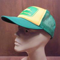 ビンテージ80's●DEADSTOCK JOHN DEERE スナップバックメッシュキャップ●210313n6-m-cp-bb NOSジョンディア企業帽子