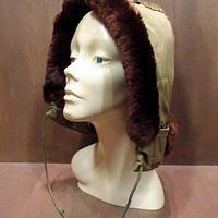 ビンテージ50's60's●ミリタリー民生品フライトジャケットフード●210220n4-m-cp-ot B9 B-9系 USAファッション小物帽子古着