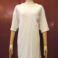 ビンテージ90's●ストリッパープリントポケットTシャツ白size XL●201108s8-m-tsh-ot古着エロTストリップクラブホノルルトップスヘインズ