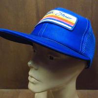 PIONEER stereoスナップバックメッシュキャップ青●210604n7-m-cp-bbパイオニア帽子メンズ6パネルUSAブルー