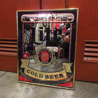 ビンテージ●Miller Liteパブミラー●210411f8-sign壁掛けインテリアディスプレイ鏡アルコールメーカーお酒アメリカン雑貨BEER