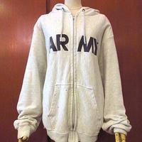 ビンテージ●U.S.ARMYジップアップパーカグレー●200621s4-m-swpトップス灰色USA古着メンズパーカー