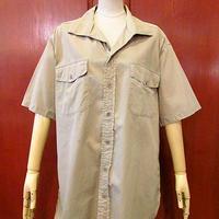 ビンテージ50's●Boldwin イタリアンカラーコットンポプリンマチ付きワークシャツ Size M●200605s4-m-sssh-wk 半袖シャツメンズトップス古着