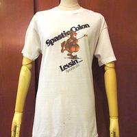 ビンテージ70's●SpastioColon Levin TabletsプリントTシャツ白size XL●200719s5-m-tsh-otホワイトUSAメンズトップス古着半袖