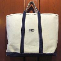 ビンテージ80's●LAND'S END耳付きキャンバストートバッグ紺×生成り●201208s8-bag-ttランズエンドカバンハンドバッグ鞄USA雑貨
