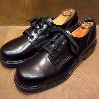 ビンテージ70's80's●DEADSTOCK WOLVERINE プレーントゥシューズ黒 7 1/2D●210210n5-m-dshs-255cm ウルヴァリンポストマンシューズ革靴