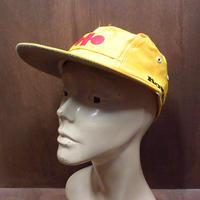 ビンテージ~70's●KOMATSU 4パネルキャップ黄●210605n5-m-cp-bb アドバタイジングワーク小松製作所帽子