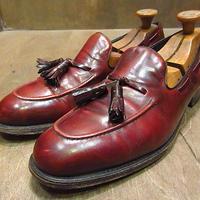 ビンテージ●FRENCH SHRINERタッセルローファー赤茶11 B●210128n5-m-lf-29cm フレンチシュライナーメンズ革靴