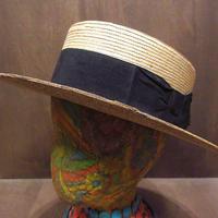 ビンテージ-30's●BEST MANUFACTUREボーターハットsize 6 7/8●210416n4-m-ht-str 1910s1920s1930sカンカン帽ストローハット麦わら帽子