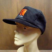 ビンテージ80's●SATURN スナップバックコーデュロイキャップ黒●210417n6-m-cp-bb USA製 Swingster GMサターン帽子車