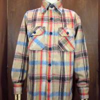 ビンテージ70's80's●DEADSTOCK Brewster チェックウールCPOシャツ S●201128n1-m-lssh-wl 長袖メンズトップス古着
