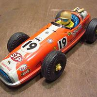 ビンテージ60's●ブリキF1レーシングカー●201025n8-otclct 1960s玩具おもちゃトイ車フォーミュラカーコレクション