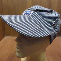 ビンテージ60's●BIG SMITHヒッコリーストライプワークキャップ●210110n5-m-cp-wk 1960sビッグスミスコットン帽子メンズ