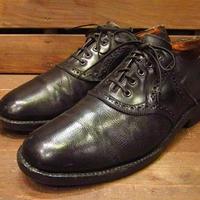 ビンテージ60's70's●サドルシューズ黒Size7D●210317s13-m-dshs-255cm 1960s1970sメンズ革靴オックスフォードシューズ