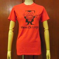 ビンテージ80's●Meet Dr. Logo Tシャツ赤sizeS●200612f5-m-tsh-ot古着半袖シャツHanesヘインズUSA製