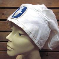 ビンテージ●ドゥボーイワッペン付きコットンコック帽白●200619n2-m-cp-ot帽子キャップ古着厨房キッチンキャラクターホワイト