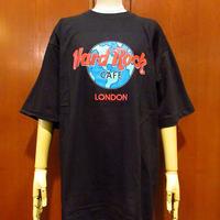 ビンテージ80's90's●DEADSTOCK Hard Rock CAFE LONDON ロゴTシャツ L●210408s3-m-tsh-ot ハードロックカフェロンドン半袖