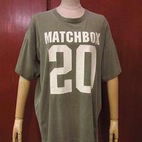 ビンテージ90's●MATCHBOX TwentyナンバリングTシャツ●200716f6-m-tsh-ot古着メンズ半袖シャツトップスFRUIT OF THE LOOMロックバンドバンt