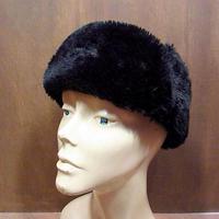 ビンテージ70's●レザーアビエイターキャップ黒 M●201226n5-m-cp-ot ボンバーキャップハットボア帽子