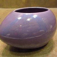 ビンテージ●Haegerセラミックプランター紫●201001n8-otclct 陶器USAバイオレットパープル植木鉢
