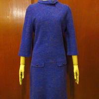 ビンテージ60's70's●カラフル織りワンピース紫size 11/12●201204f5-w-lsdrs古着レディースカラフル編みドレスレトロUSA