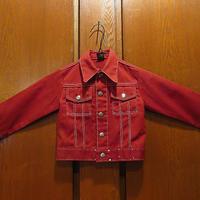 ビンテージ70's●MANNキッズ2つポケットジャケット●210430f6-k-jk古着子供服GジャンタイプアウターUSAレトロ