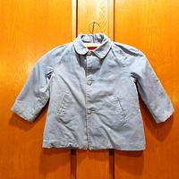 ビンテージ50's●キッズライナー付きコットンジャケット青●210217s3-k-jk 1950s子供服ワーク水色ラグラン