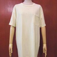 ビンテージ70's●HanesコットンポケットTシャツ黄 Size XL●200611s1-m-tsh-pl ヘインズポケT古着メンズトップス