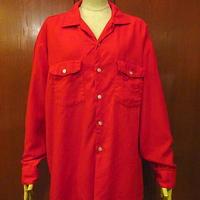 ビンテージ60's●GOLDEN ARROWウールループカラーシャツ赤size XL●200920f3-m-lssh-wl古着オープンカラーシャツアロー