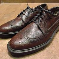 ビンテージ80's●DEADSTOCK WEYENBERGウイングチップシューズ茶8D●201119n5-m-dshs-265cm 1980sデッドストック革靴ドレスシューズ